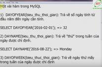 Một vài hàm thông dụng trong MySQL