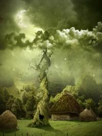 Ngôi Làng Bình Yên – Tác Phẩm Nghệ Thuật trong Photoshop