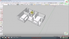 Sketchup thiết kế biệt thự - Bài 3: Dựng cửa đi và cửa sổ