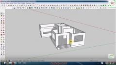 Sketchup thiết kế biệt thự - Bài 4: Dựng cửa đi và cửa sổ (tt)