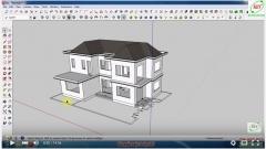 Sketchup thiết kế biệt thự - Bài 6: Dựng cầu thang