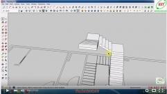 Sketchup thiết kế biệt thự - Bài 7: Dựng lan can cầu thang