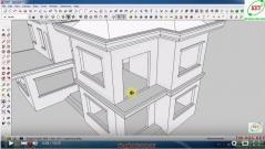 Sketchup thiết kế biệt thự - Bài 8: Dựng lan can ban công
