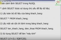 Toàn cảnh lệnh Select trong MySQL