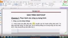 Tự học sketchup từ cơ bản đến nâng cao phần 1