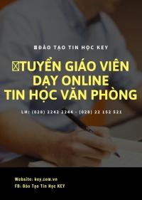 Tuyển Giáo viên dạy online tin học văn phòng toàn quốc