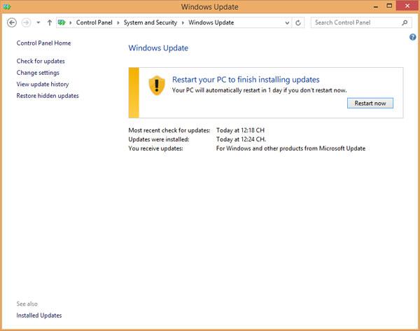 Khắc phục lỗi Full Disk 100% trên Windows 8.1