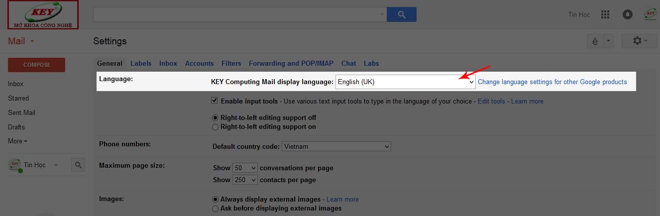 gmail tieng viet 3