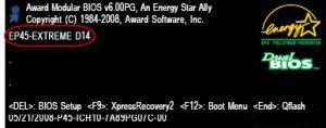 TRUNG TAM TIN HOC KEY_ Màn hình đầu tiên khi máy tính khởi động trong chế độ hiển thị thông số