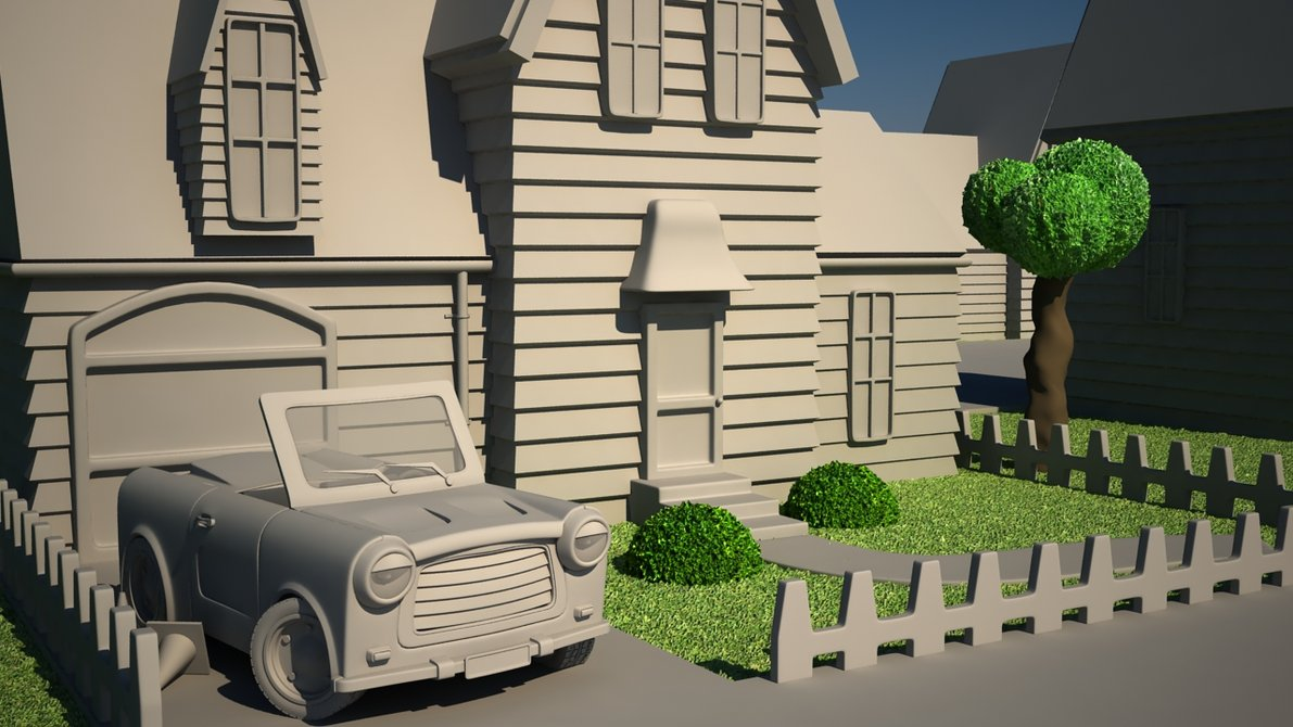 phoi canh phim hoat hinh voi 3ds max