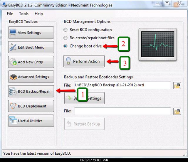 Hủy bỏ hệ thống dự trữ trong Windows 7