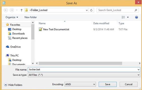 Nhấn phải chuột và chọn New > Text Document
