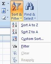 Sắp xếp dữ liệu trong Excel