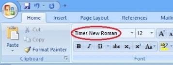 Thay đổi Font chữ mặc định trên Word 2007