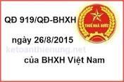 THÔNG TƯ 919/QĐ-BHXH