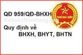 THÔNG TƯ 959/QĐ-BHXH
