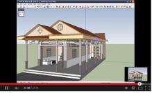 Video hướng dẫn học shetchup thiết kế nhà 3D ( Phần 4) - Phần cuối